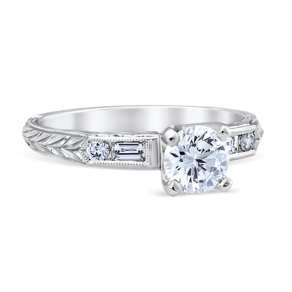 Lucia 14K White Gold Engagement Ring