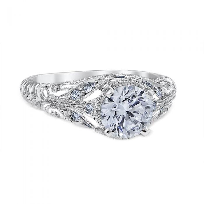 Stefania 14K White Gold Engagement Ring
