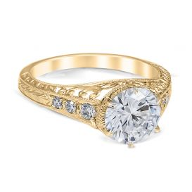 Carola 14K Yellow Gold Engagement Ring