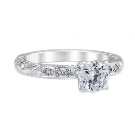 Alice 18K White Gold Engagement Ring with 0.6 Carat Round Diamond