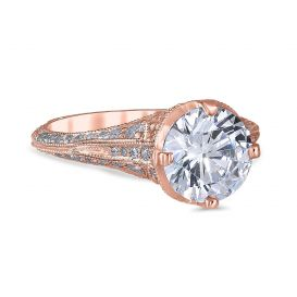 Angelina 14K Rose Gold Engagement Ring