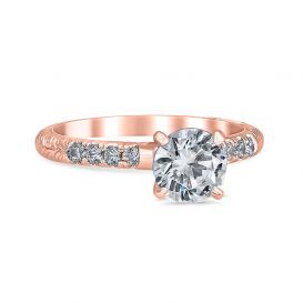 Amanda 14k Rose Gold Engagement Ring