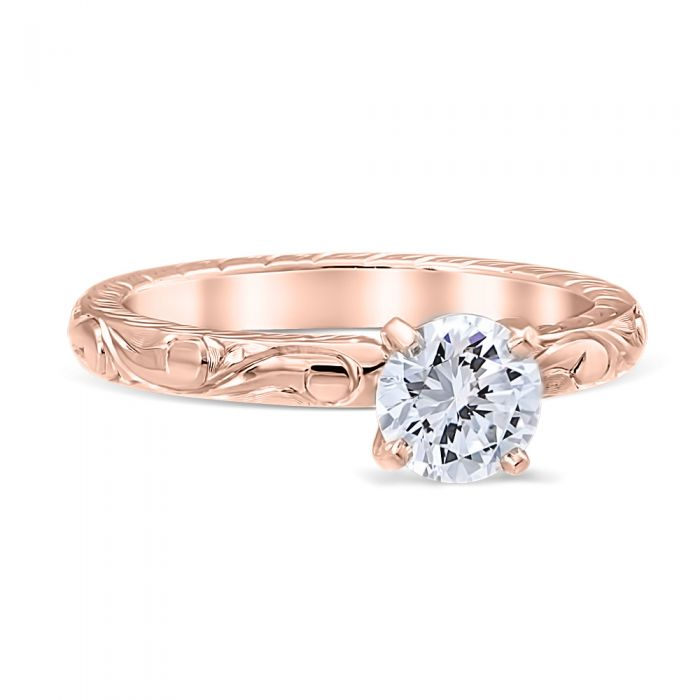 Colonial 14K Rose Gold Engagement Ring